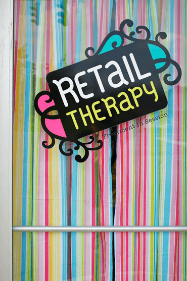 retail therapy sign commercial voiceover Kim Handysides