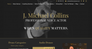 voice over artist website landing page
