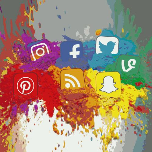 social media platform logos voiceover